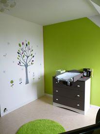 deco chambre bebe taupe et vert - visuel #8