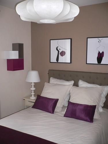 Beautiful Chambre Moderne Taupe Ideas - House Design - marcomilone.com