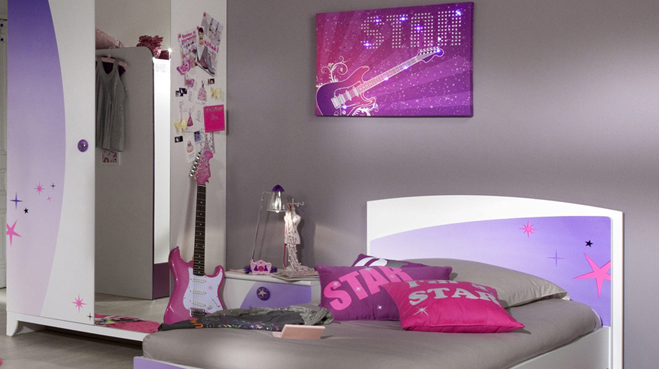 D co chambre jeune fille ado for Decoration chambre de fille