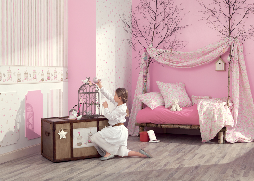 chambre papier peint chambre enfant papier peint lit ikea. Black Bedroom Furniture Sets. Home Design Ideas