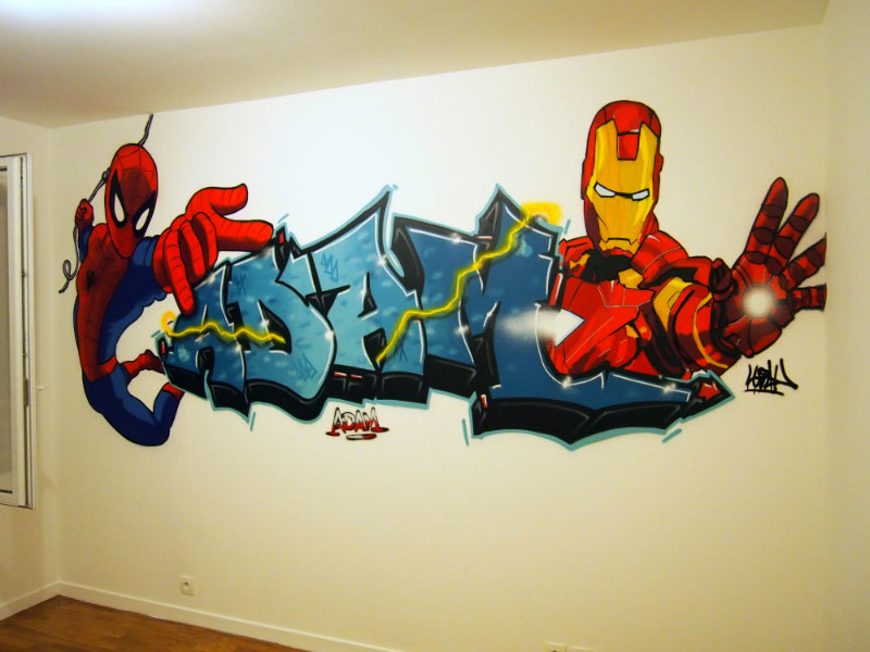 D 233 Co Chambre Garcon Iron Man