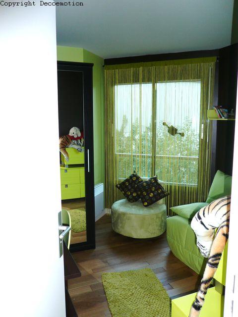 deco chambre vert anis et chocolat - visuel #3