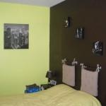 deco chambre vert anis et chocolat