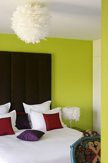 deco chambre vert anis et chocolat visuel 6. Black Bedroom Furniture Sets. Home Design Ideas