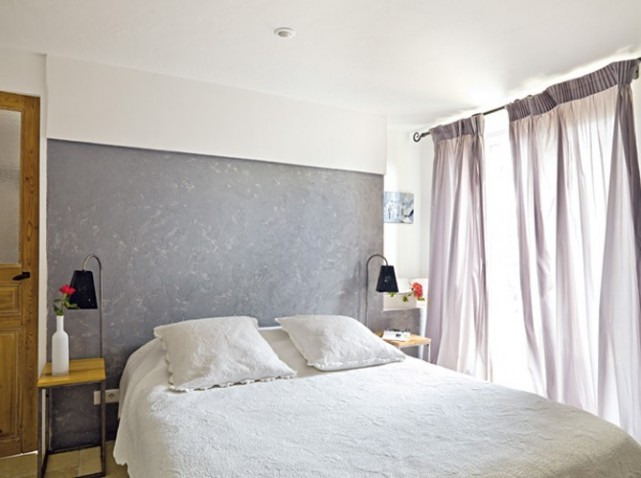 D co chambre zen gris - Chambre mur gris ...