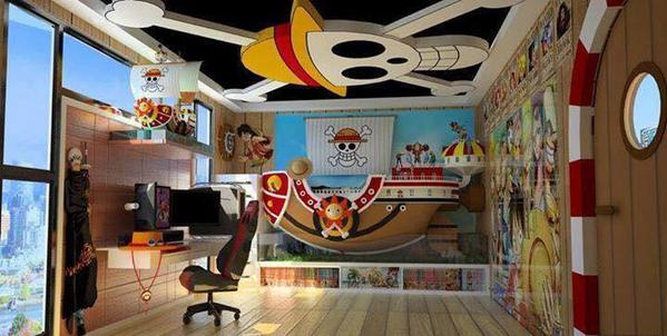 D co chambre one piece for Decoration murale one piece
