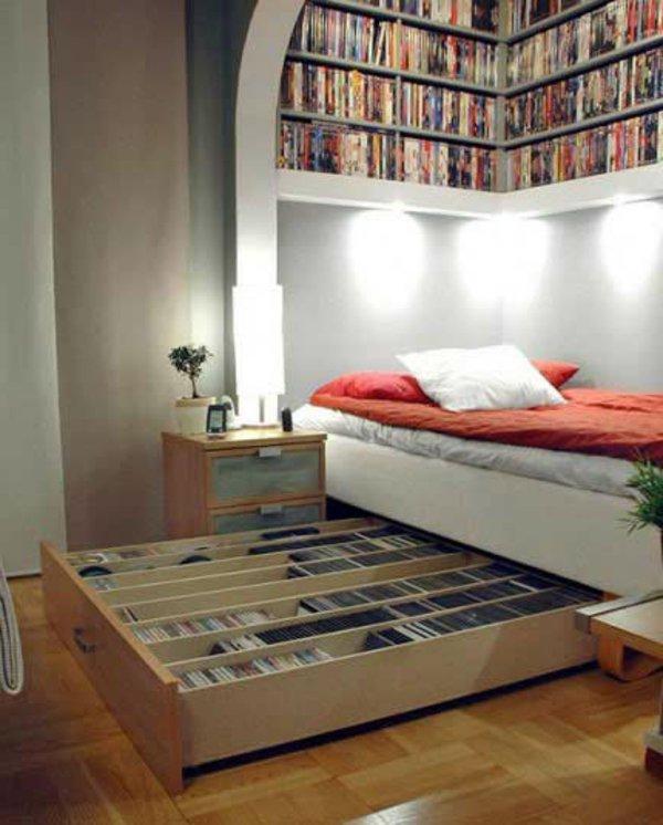 Decoration chambre a coucher petite surface for Stores pour chambres a coucher