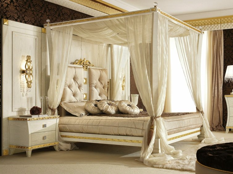 decoration chambre avec lit baldaquin visuel 2. Black Bedroom Furniture Sets. Home Design Ideas