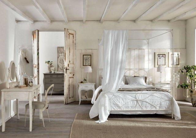 Decoration Chambre Avec Lit Baldaquin  Visuel