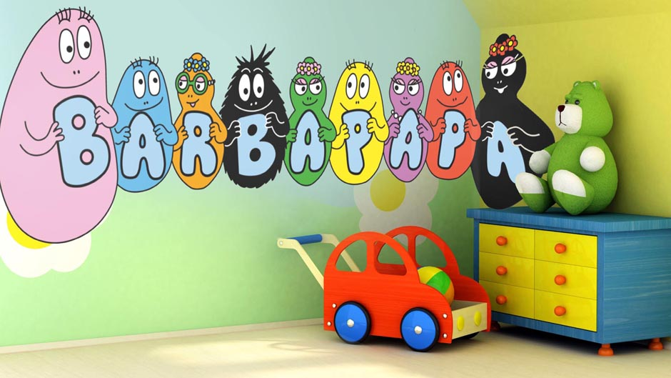 D coration chambre barbapapa - Decoration chambre bebe jungle ...