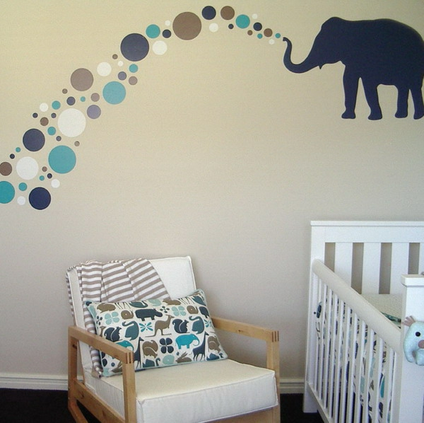 Decoration chambre bebe elephant visuel 8 for Stickers deco chambre garcon