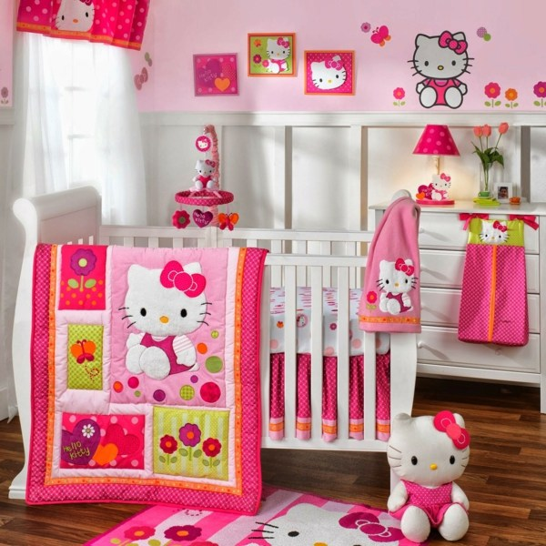 D coration chambre fille hello kitty for Chambre enfant fille hello kitty