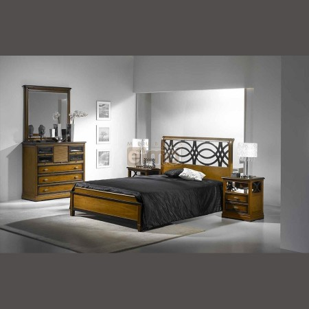 d co chambre en merisier. Black Bedroom Furniture Sets. Home Design Ideas