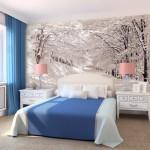 decoration chambre en papier peint