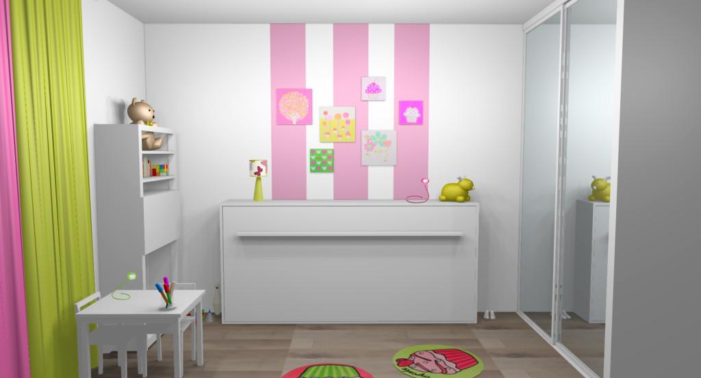 decoration chambre fille peinture visuel 5. Black Bedroom Furniture Sets. Home Design Ideas