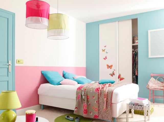 Decoration Chambre Fille Peinture Visuel 1