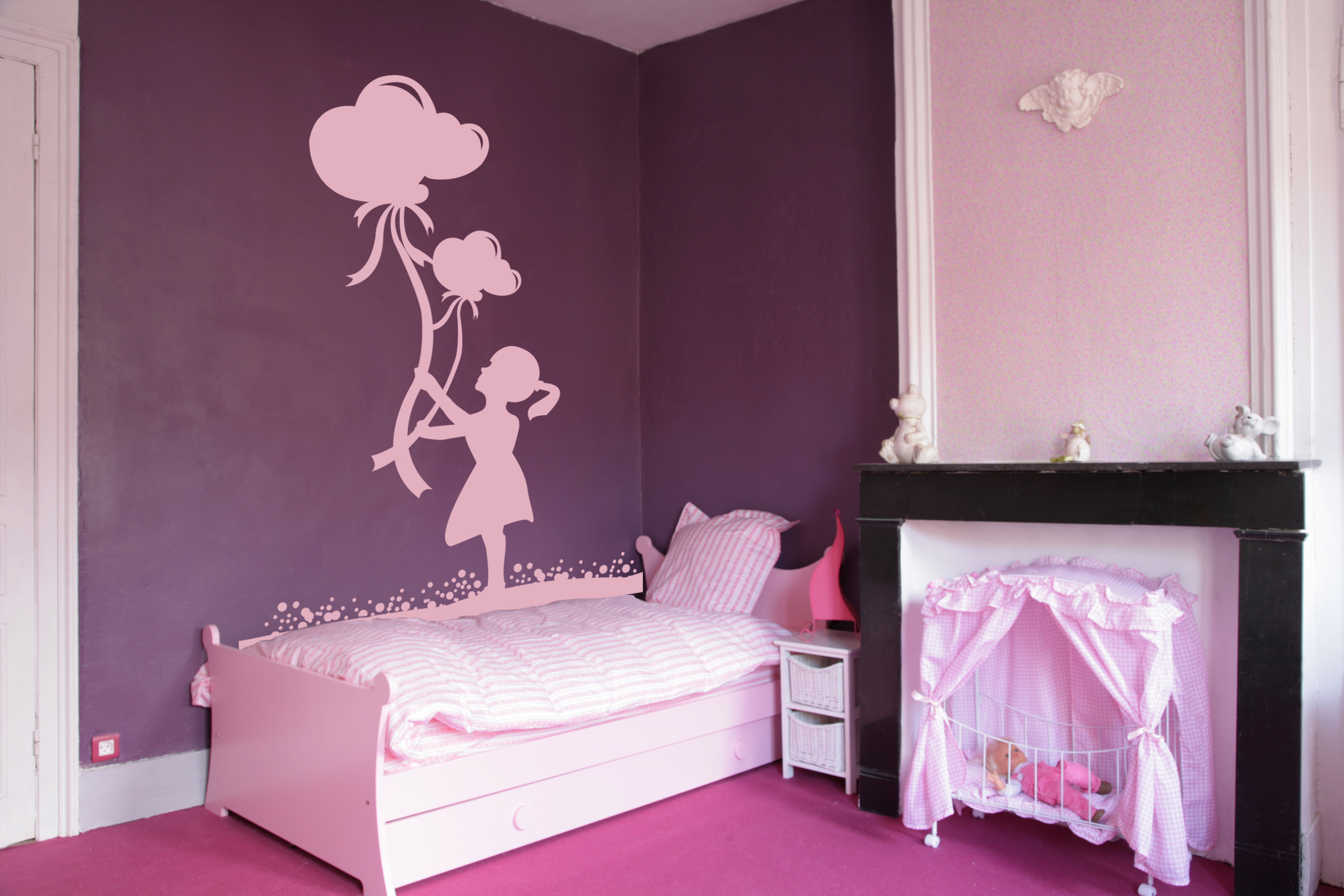 decoration chambre fille stickers