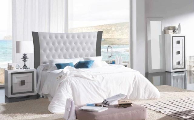 D coration chambre lit blanc for Decoration pour lit