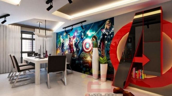 D co chambre marvel - Deco chambre avengers ...