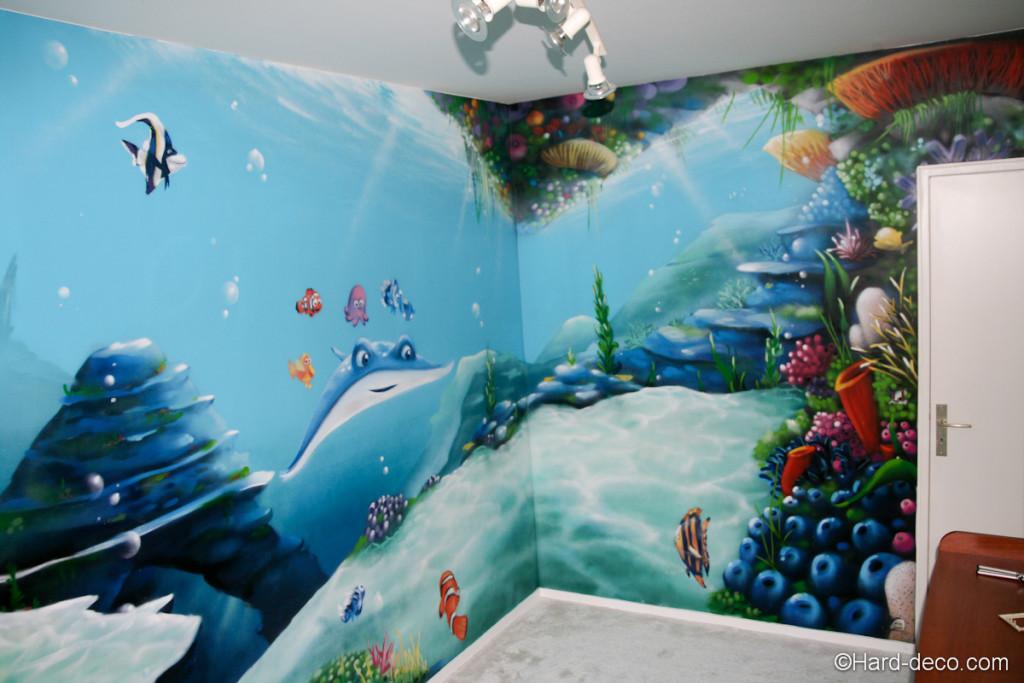 Decoration chambre nemo visuel 7 for Fresque chambre bebe