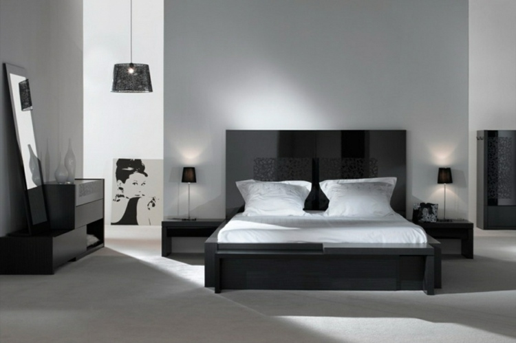 Decoration chambre noir blanc gris visuel 5 Deco chambre gris et blanc