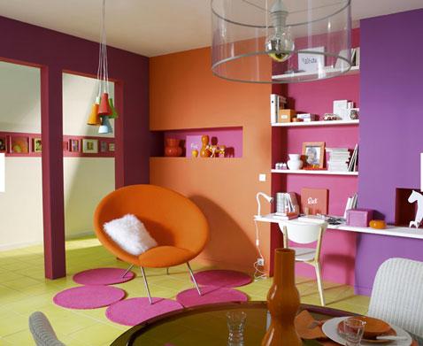 decoration chambre orange et vert - visuel #5