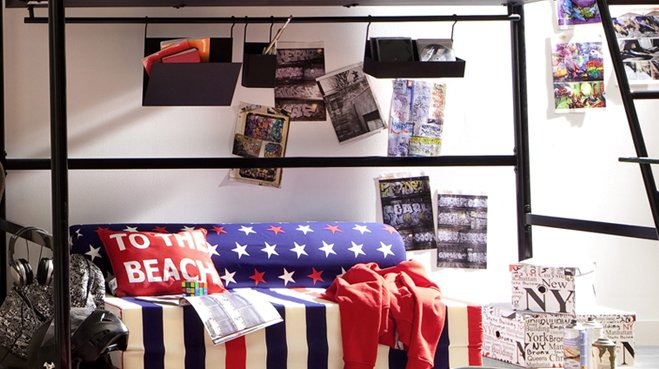 D co chambre americaine for Decoration chambre ado style americain