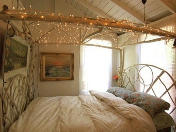 chambre style rustique