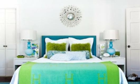 decoration chambre vert et bleu - visuel #2