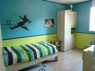 decoration chambre vert et bleu visuel 6. Black Bedroom Furniture Sets. Home Design Ideas