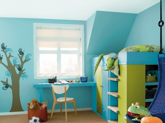 decoration chambre vert et bleu visuel 1. Black Bedroom Furniture Sets. Home Design Ideas