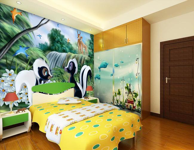 Decoration de chambre 3d visuel 1 for Decoration murale a coller