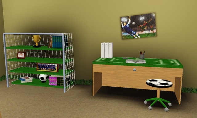 decoration de chambre football visuel 2. Black Bedroom Furniture Sets. Home Design Ideas