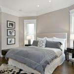 decoration de chambre gris et blanc