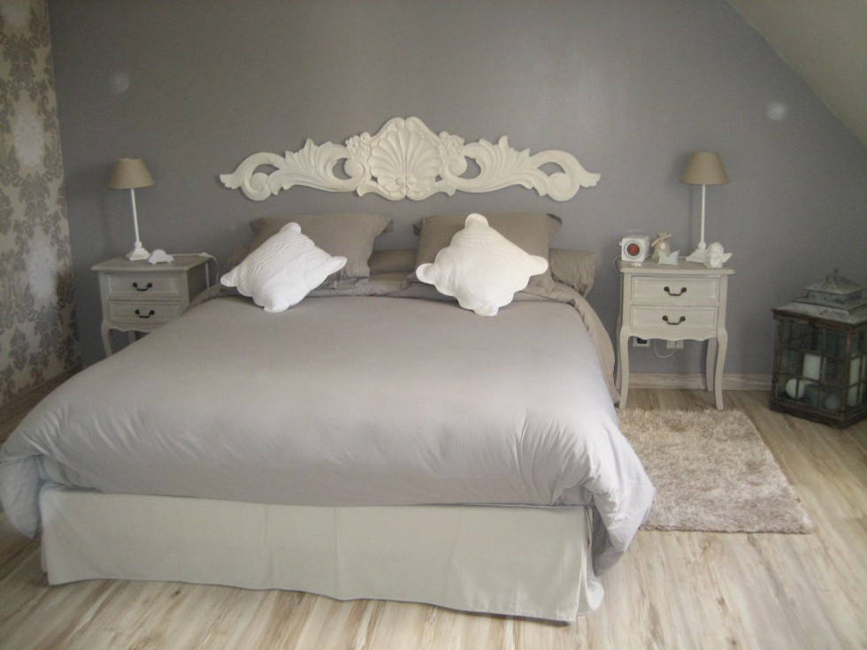 decoration de chambre gris et blanc - visuel #9