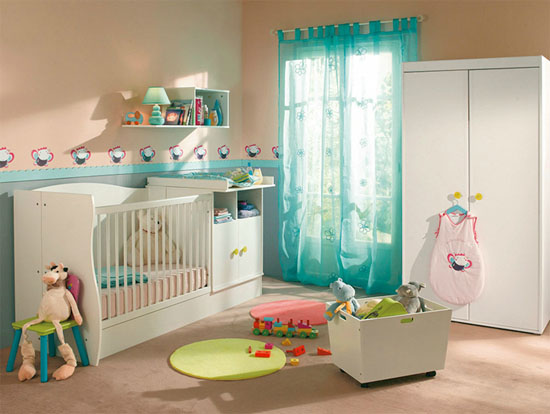Dcoration de chambre de bb future maman inspiration ide for Chambre de bb fille dcoration