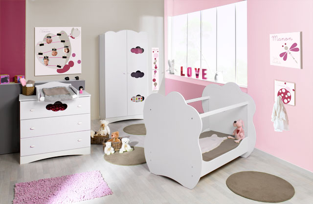 d co chambre pour bebe fille. Black Bedroom Furniture Sets. Home Design Ideas