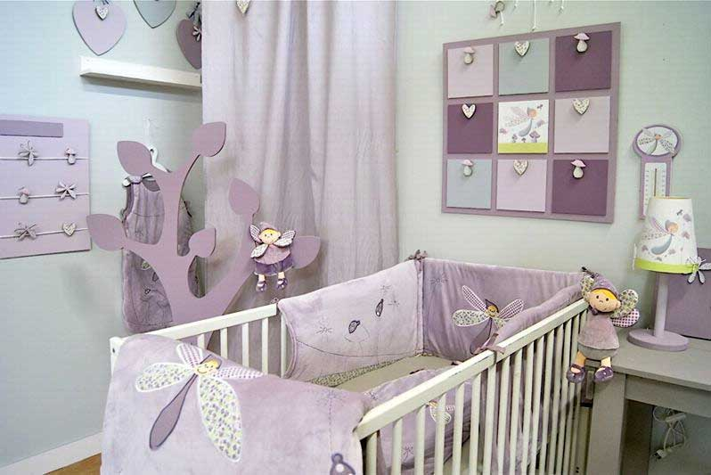 Idee decoration lit bebe visuel 8 - Decoration chambre de bebe fille ...