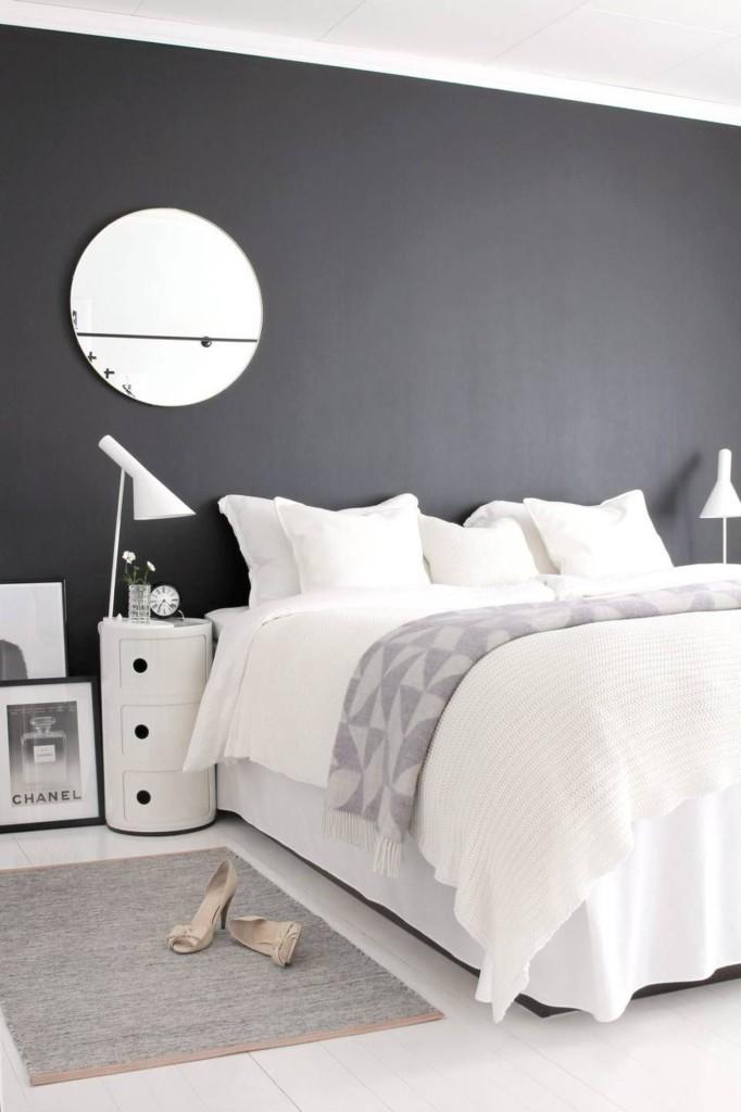 chambre noire et blanche simple chambre noire et blanche with chambre noire et blanche cool. Black Bedroom Furniture Sets. Home Design Ideas
