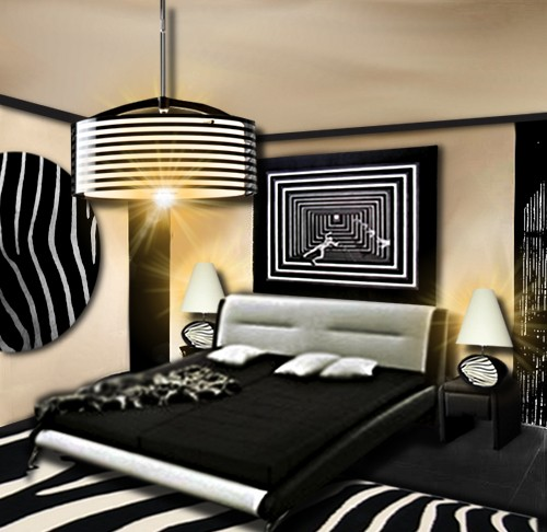 tableau noir et blanc chambre noir blanc et touche de couleur kids room lit design chambre. Black Bedroom Furniture Sets. Home Design Ideas