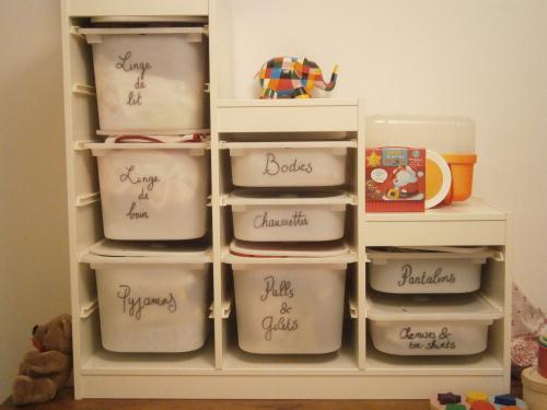 Idee Rangement Chambre Bebe : Astuce rangement chambre bebe visuel