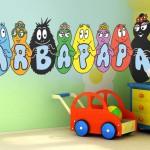 chambre deco barbapapa