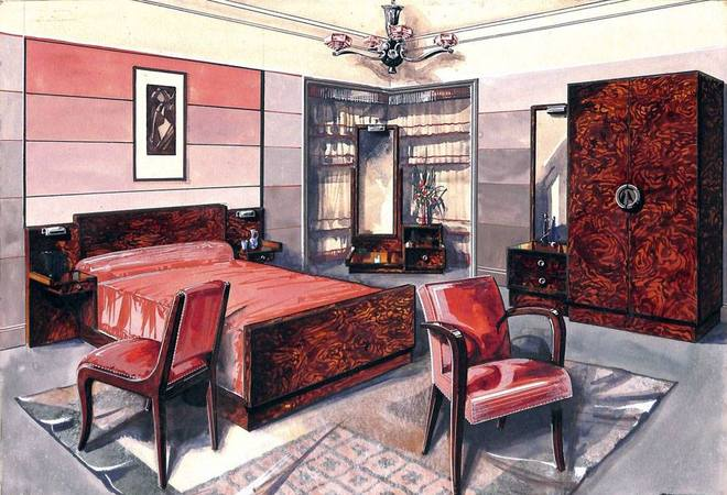 d co chambre 1920. Black Bedroom Furniture Sets. Home Design Ideas