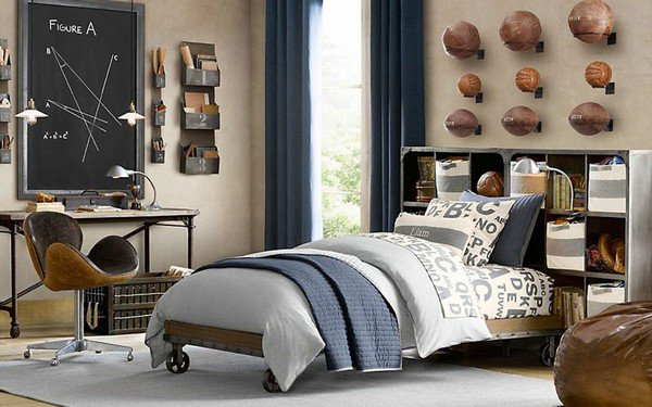 deco chambre ado garcon sport. Black Bedroom Furniture Sets. Home Design Ideas