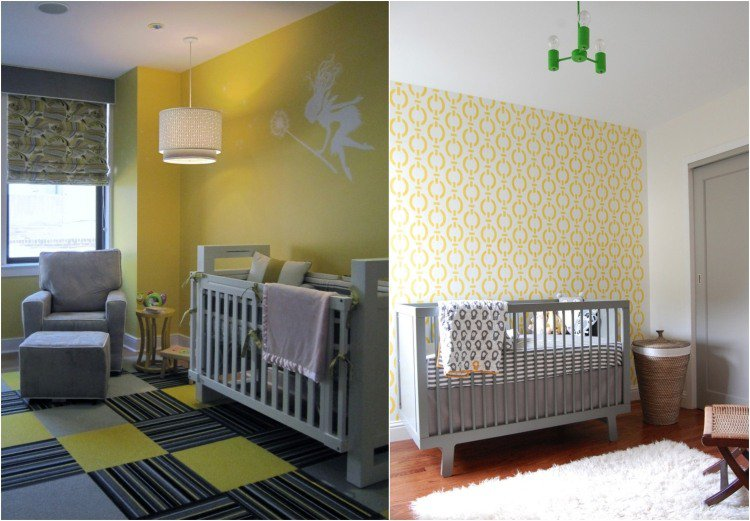 Chambre bebe jaune moutarde for Chambre jaune moutarde