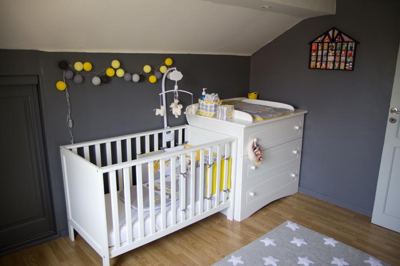 deco chambre bebe gris et jaune - visuel #7