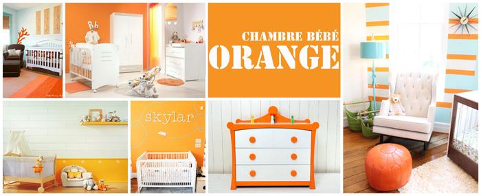 Fabulous Une Chambre De Bb Blanche With Chambre Orange Et Blanc ...