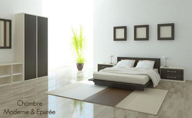 Decoration interieur moderne chambre Deco maison epuree