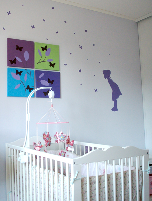 Decoration chambre fille papillon - Stickers papillon chambre bebe ...