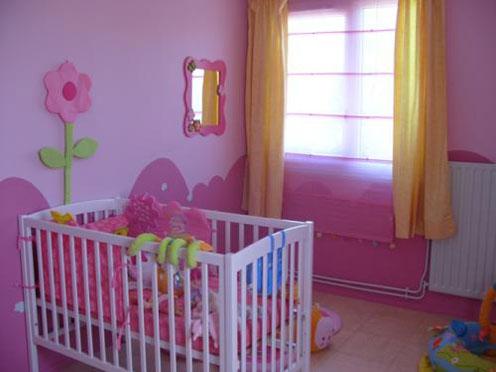 deco chambre fille rose et mauve - visuel #5